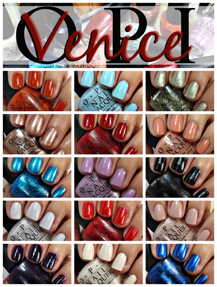 OPI Venice Nail Polish Collection Swatches Review