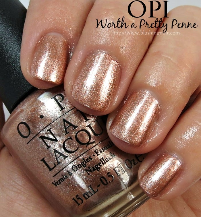 OPI Worth a Pretty Penne Nail Polish Swatches