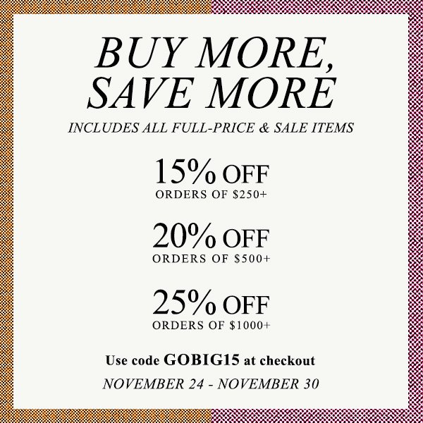 Major SHOPBOP Sale! Buy More, Save More!