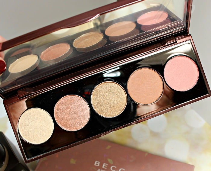 BECCA Afterglow Palette swatches review