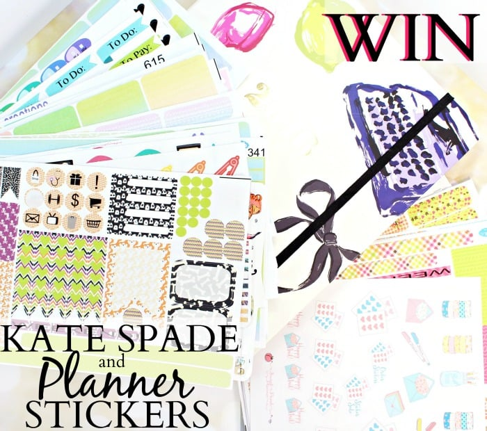 Kate Spade Planner & Stickers Giveaway!