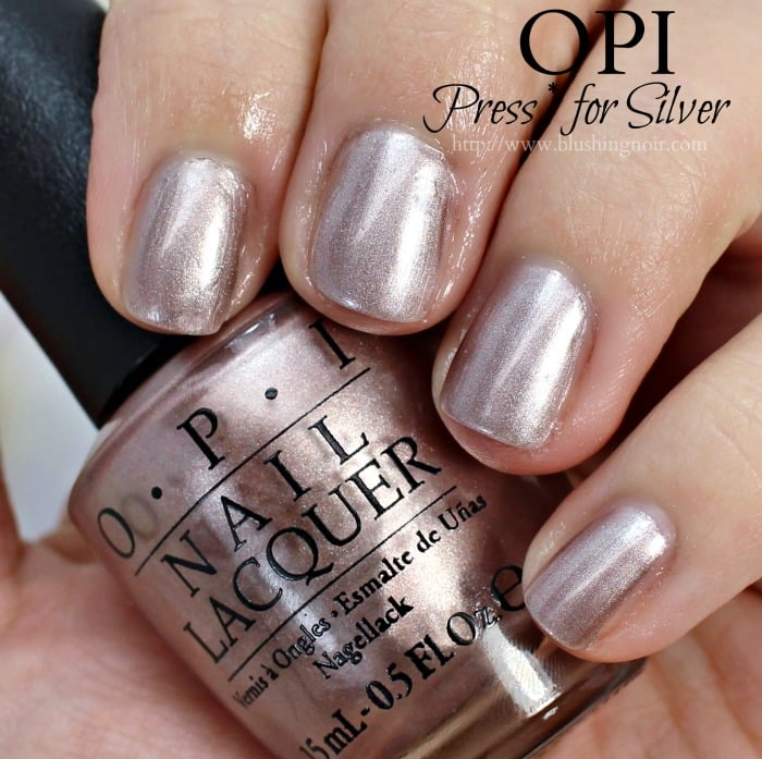 OPI Press star for silver Nail Polish Swatches