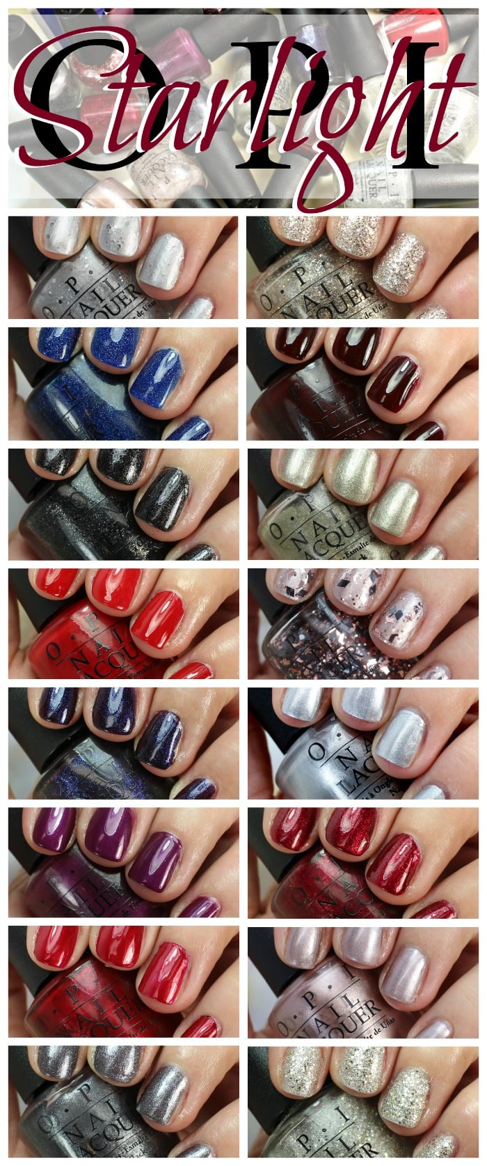 OPI Starlight Collection Holiday 2015 Nail Polish