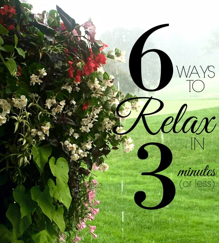 6 ways to relax in no time