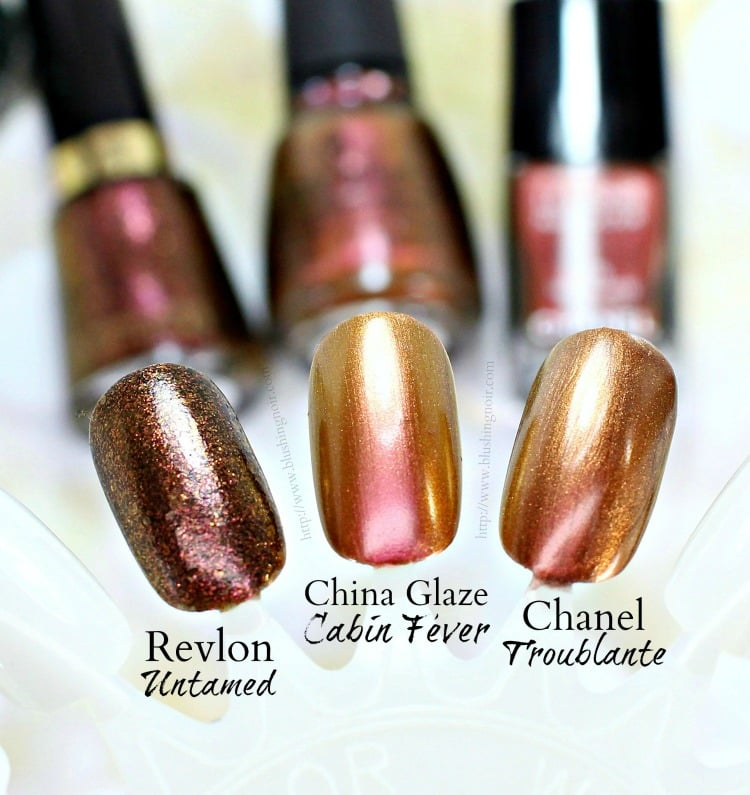 Chanel Troublante Le Vernis Dupe? + China Glaze The Great Outdoors Swatches + GIVEAWAY!