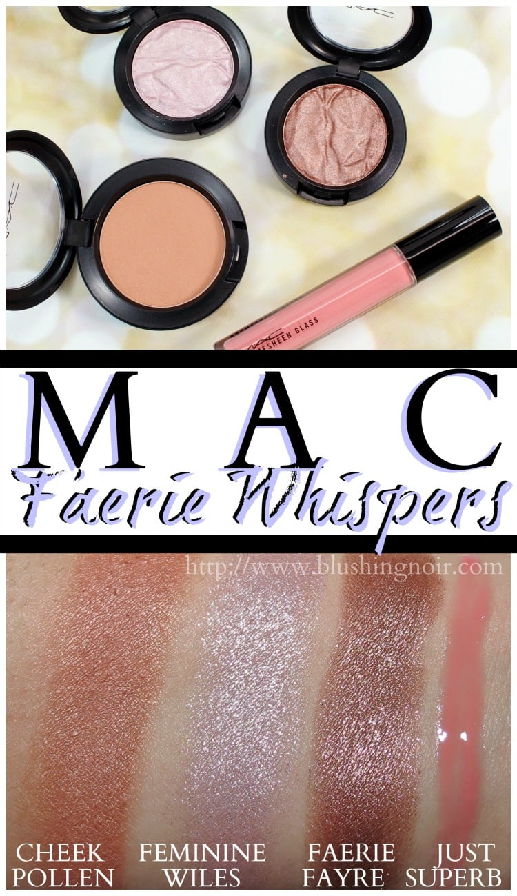 MAC Faerie Whispers collection makeup Swatches review