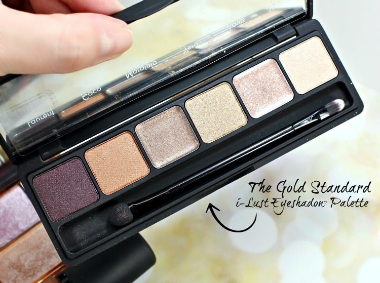 SLEEK The Gold Standard i-Lust Eyeshadow Palette swatches