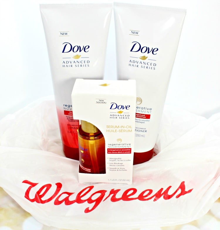 SAVE on NEW Dove Regenerative Nourishment Hair Care at Walgreens