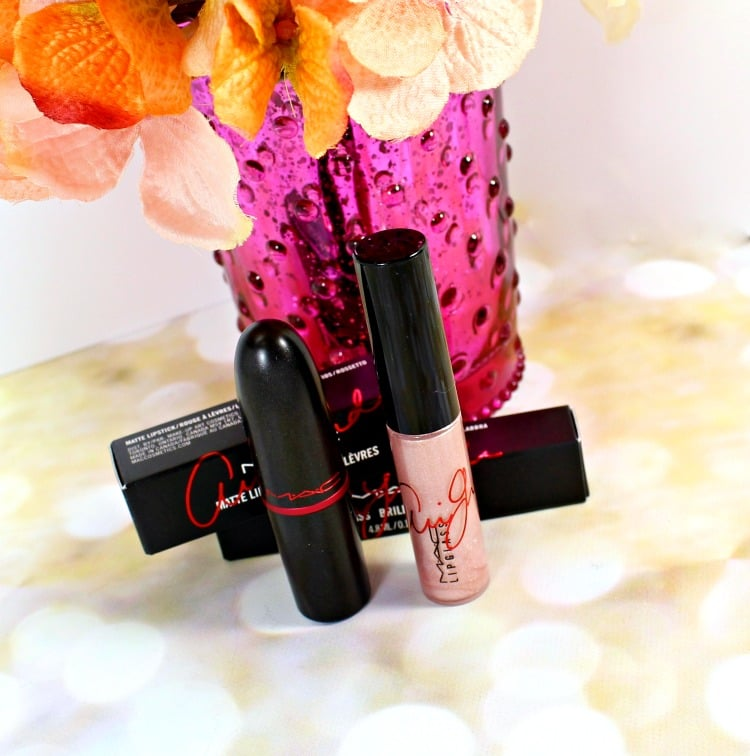 MAC Viva Glam Ariana Grande Lipstick Lipglass swatches photos review