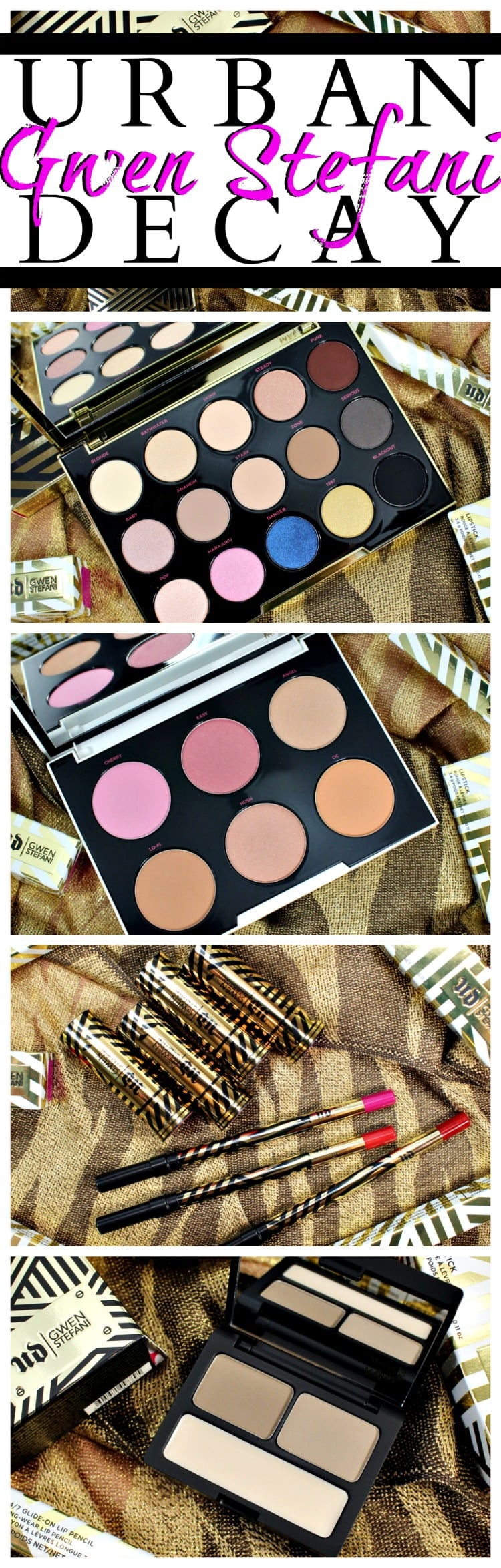 Urban Decay Gwen Stefani Collection swatches review photos 2016