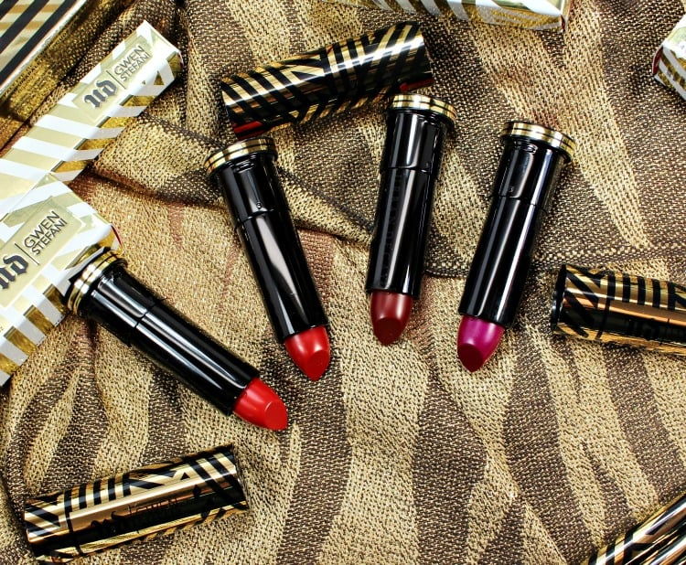 Urban Decay Gwen Stefani Lipstick swatches review