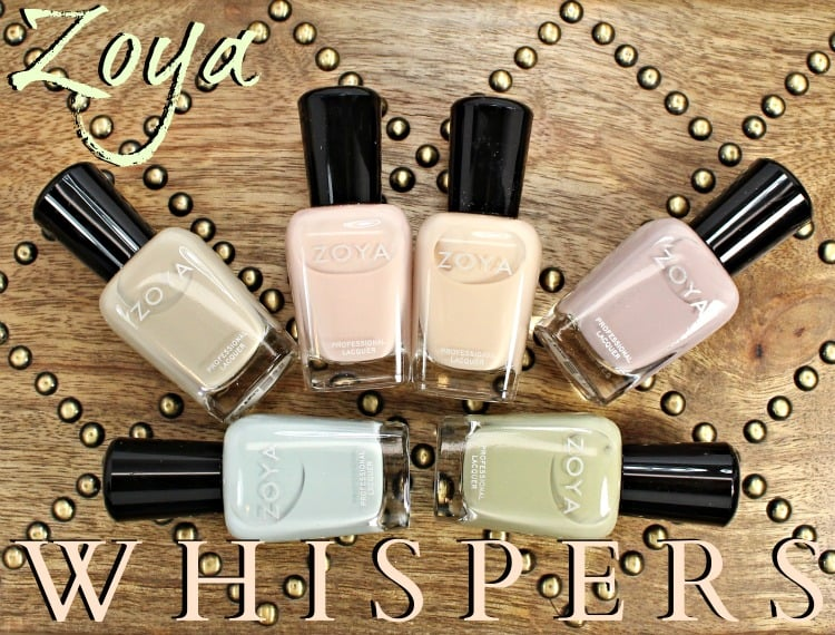 Zoya Whispers Nail Polish Swatches + Review