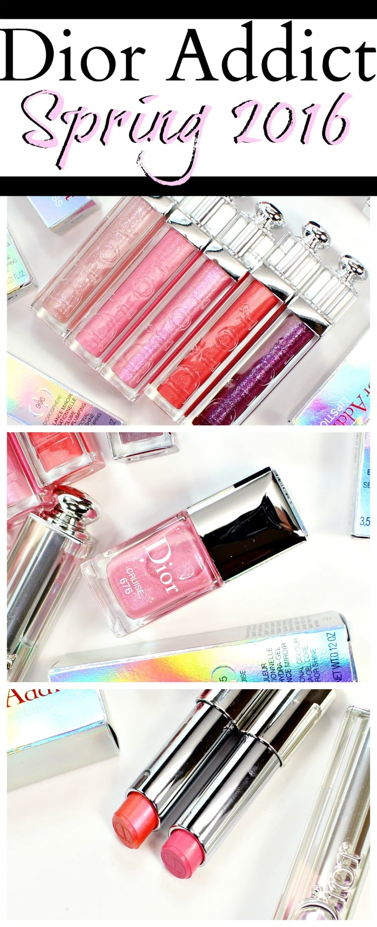 Dior Addict Spring 2016 swatches review