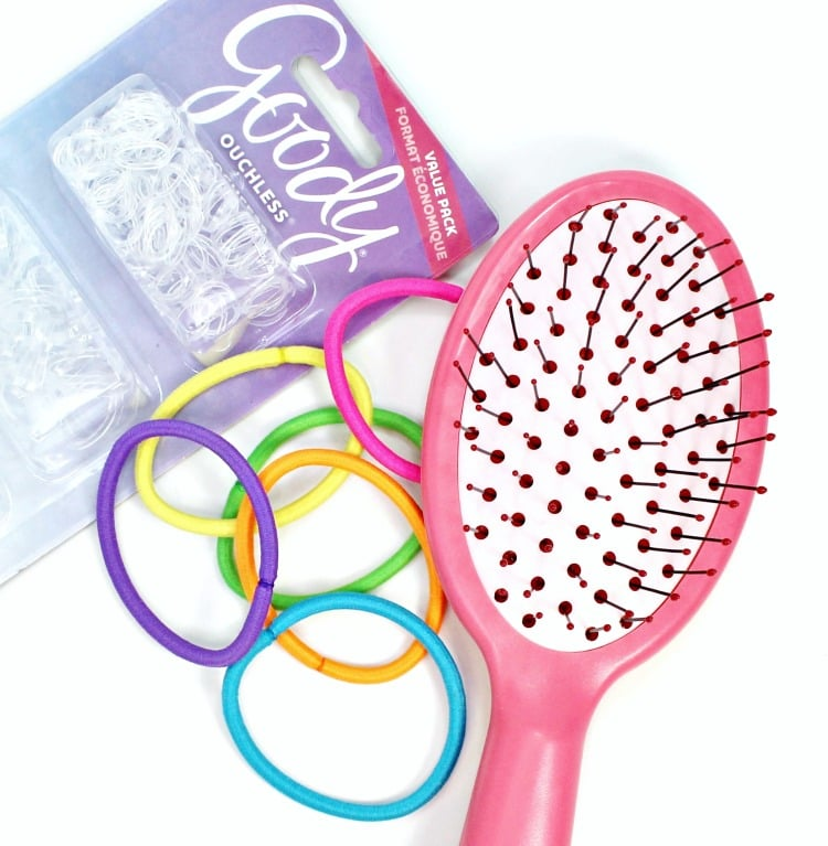 Goody Goody Ouchless Girls Oval Brush Ouchless Elastics at Target review tutorial