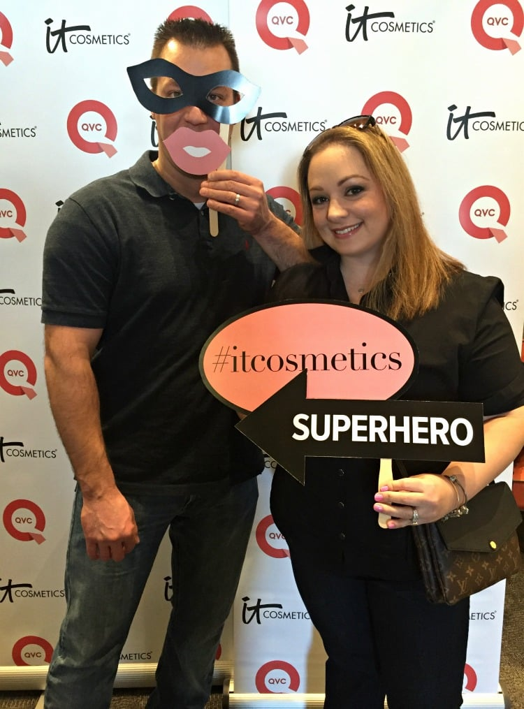 IT Cosmetics QVC Studios Superhero Mascara events behind the scenes