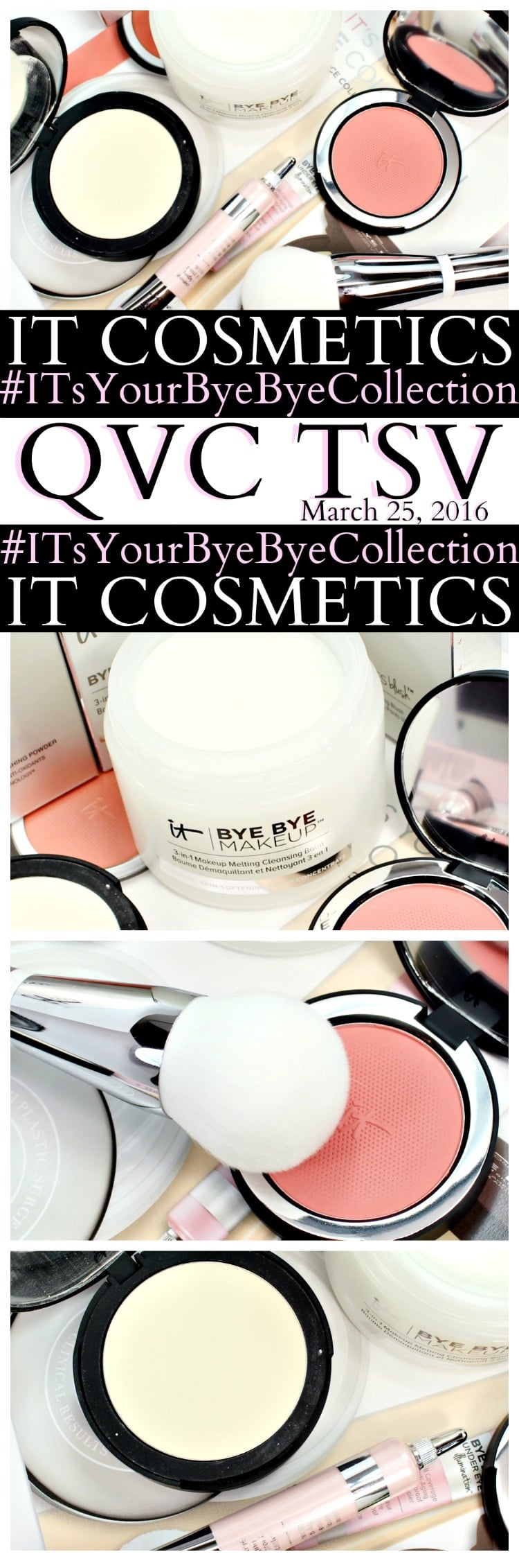 IT Cosmetics QVC TSV IT's Your Bye Bye Collection pinterest