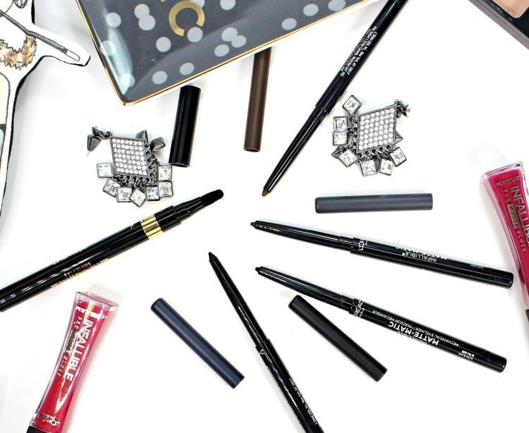 LOREAL Matte-Matic eyeliner black velvet liquid liner swatches review