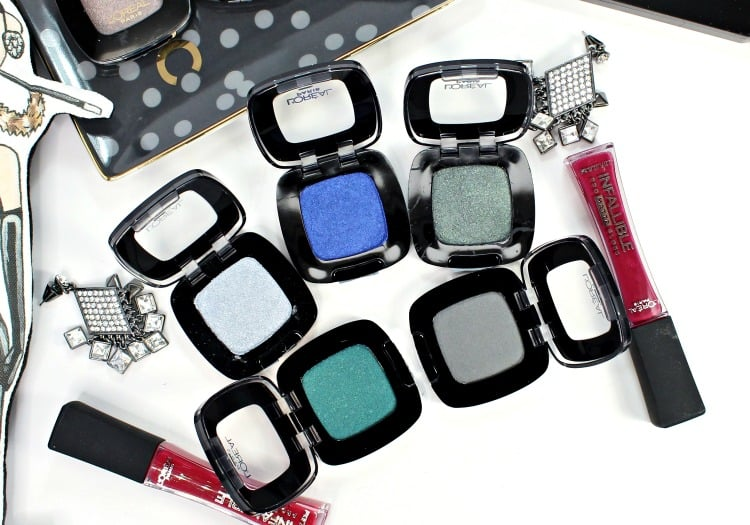 L'Oreal Colour Riche Eye Shadow bold shades swatches
