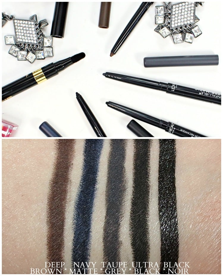 L'Oreal Infallible Matte-Matic eyeliner black velvet swatches