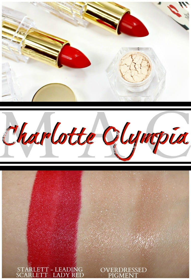 MAC Charlotte Olympia makeup swatches