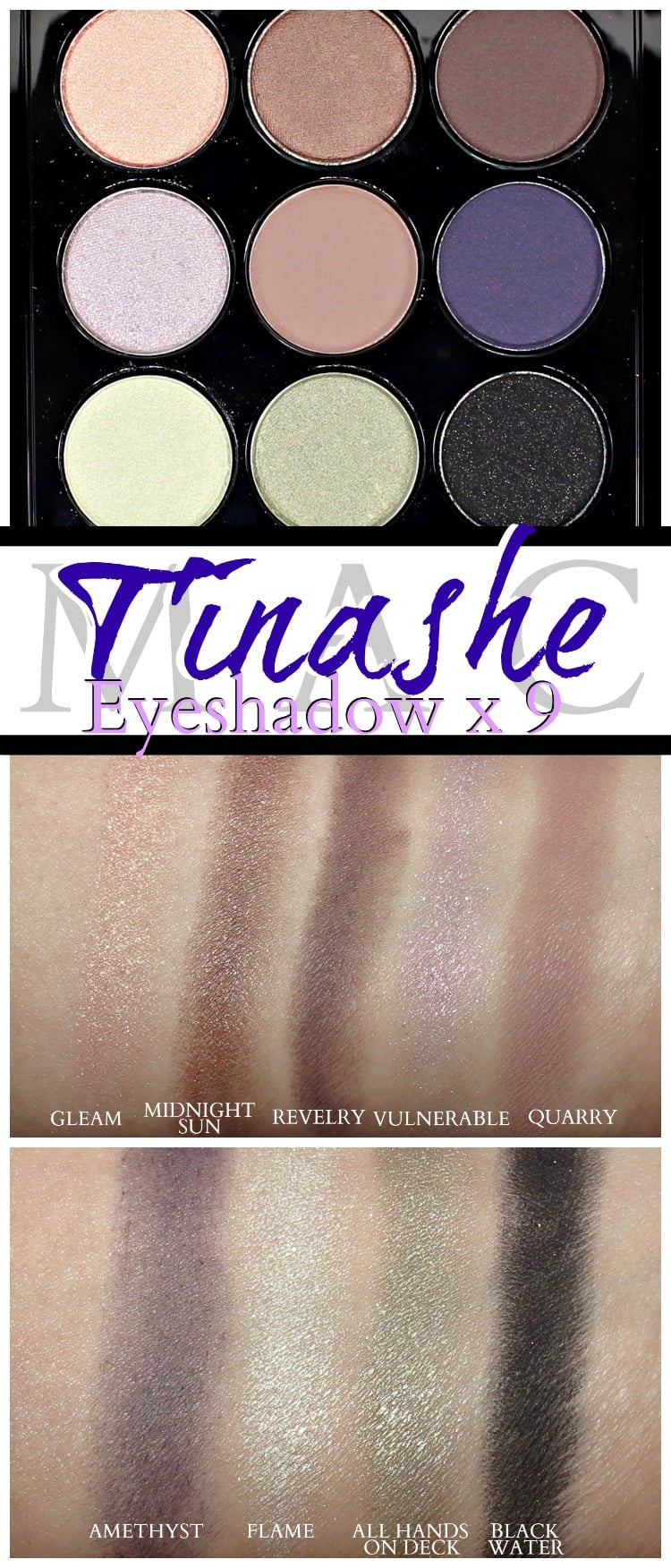MAC Tinashe eyeshadow x 9 palette fashion forward swatches