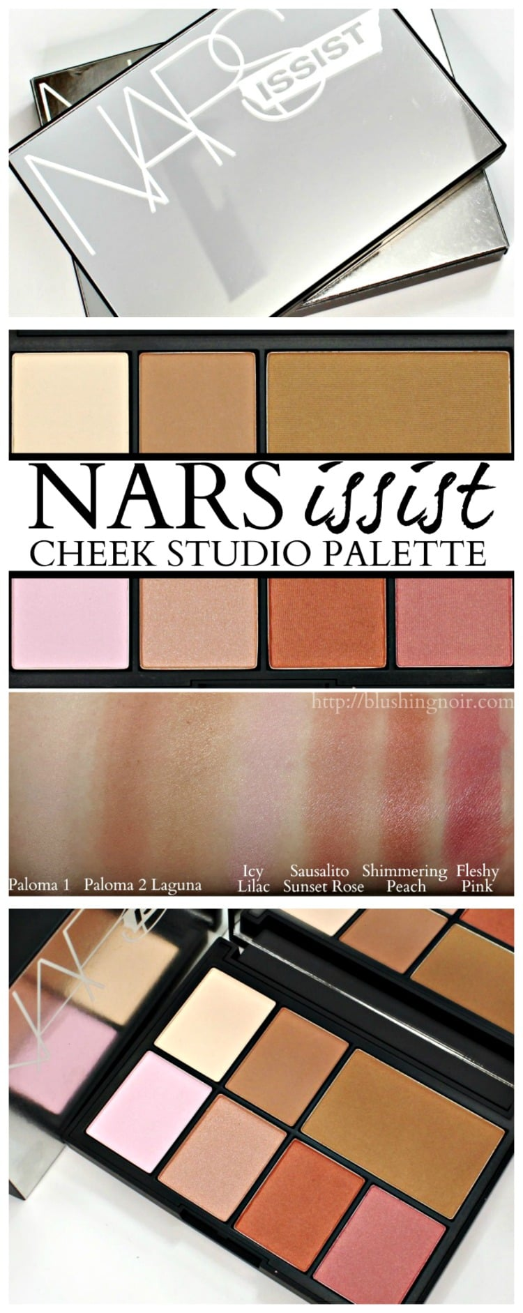 NARSISSIST Cheek Studio Palette NARS swatches review photos