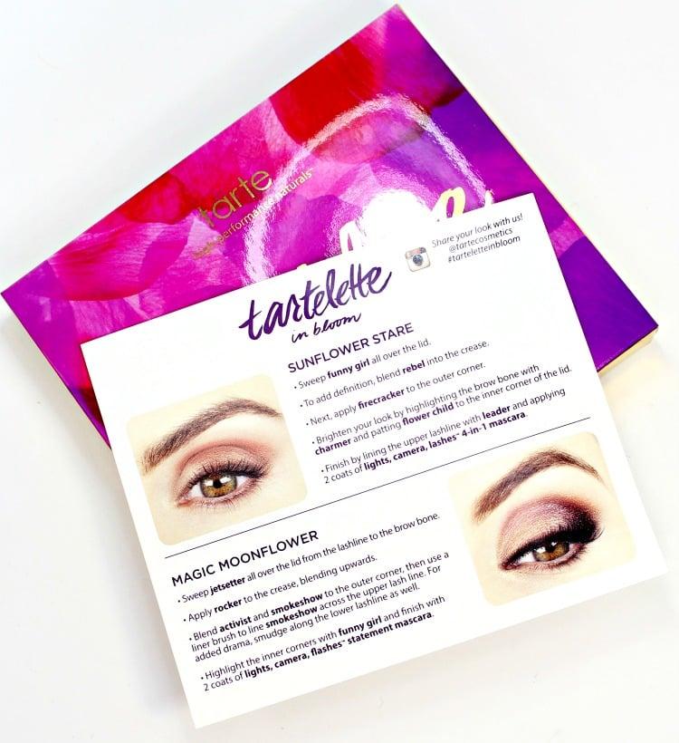 Tarte Tartelette In Bloom Eyeshadow Palette guide how to