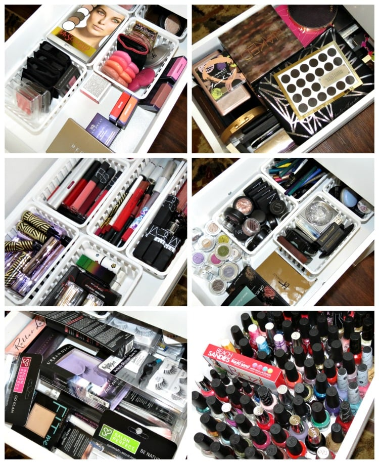 inside my beauty room storage organization