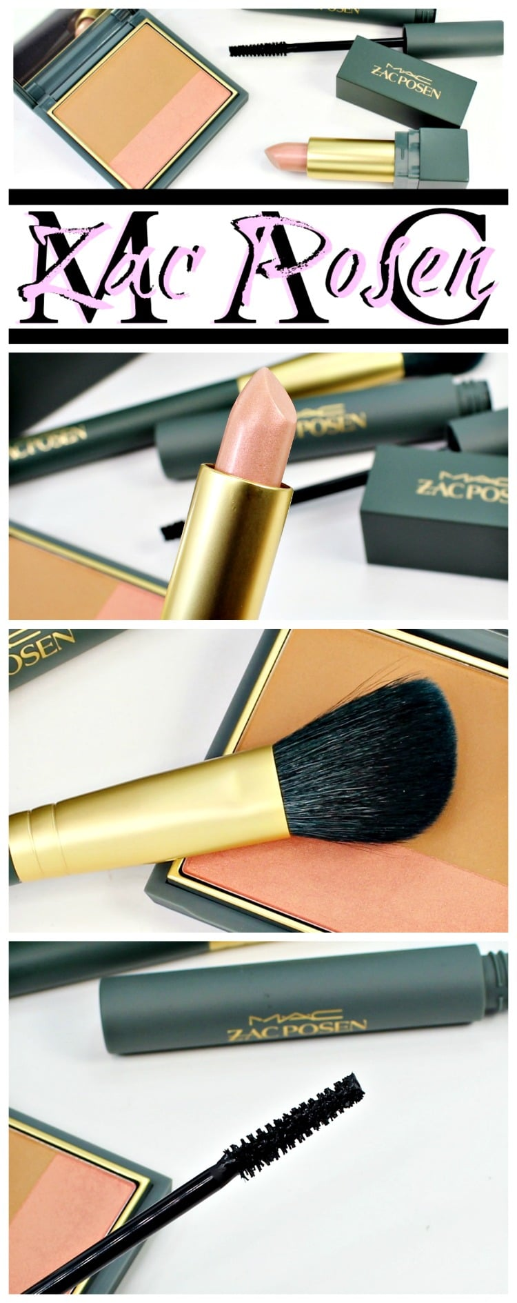 mac zac posen makeup collection swatches review pinterest