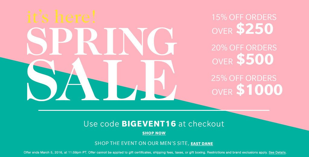 SHOPBOP Spring Fashion Sale! Get the Info Here!