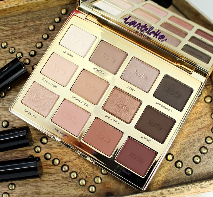 tarte Tartelette In Bloom Clay Eyeshadow Palette swatches review photos