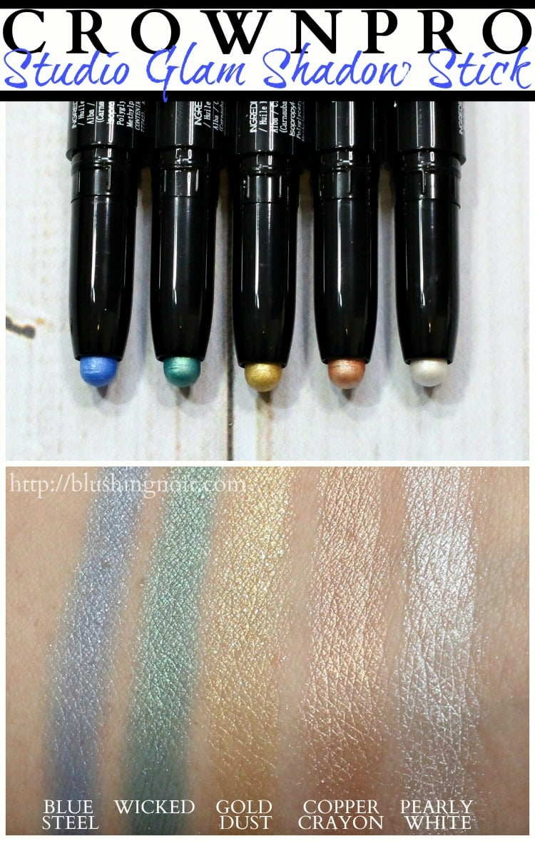 CROWN PRO Studio Glam Shadow Stick swatches