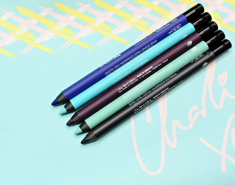 Make Up For Ever Aqua Eye Pencil XL Charli XCX swatches review