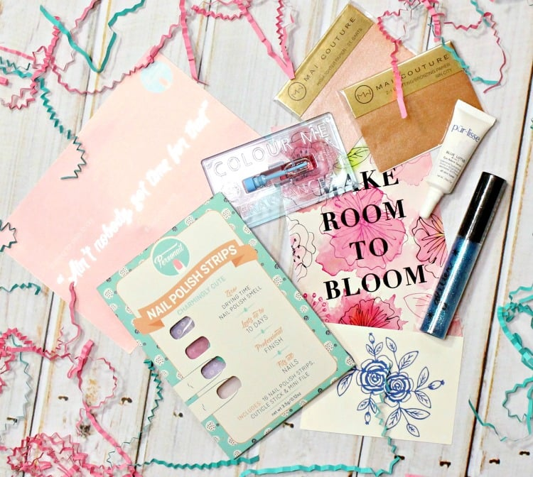 March 2016 Beauty Box 5 bb5 swatches review photos