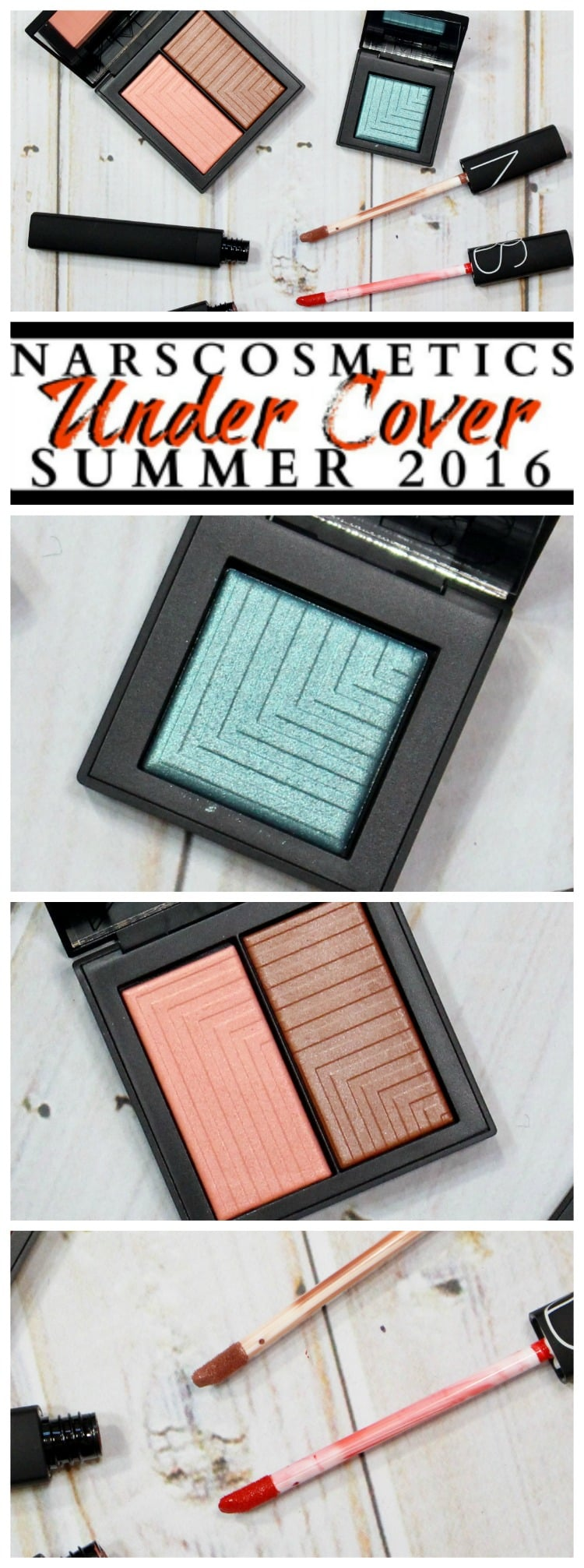 NARS Under Cover makeup collection swatches review pinterest