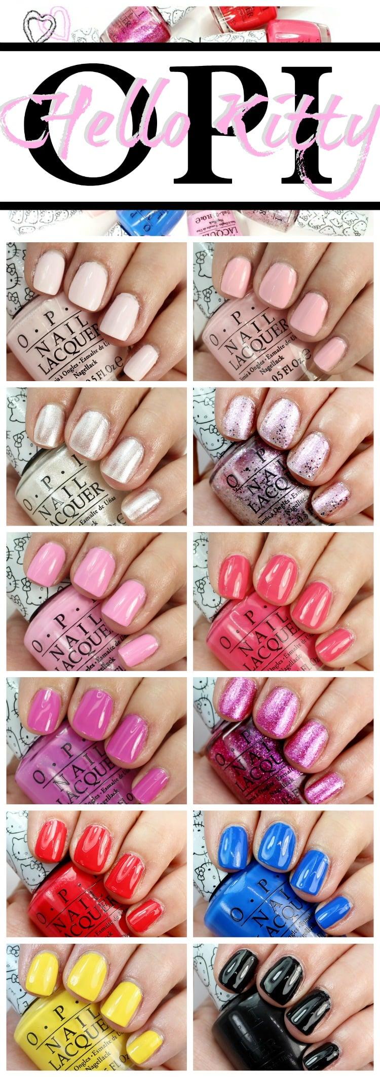 OPI Hello Kitty Swatches Nail polish lacquer