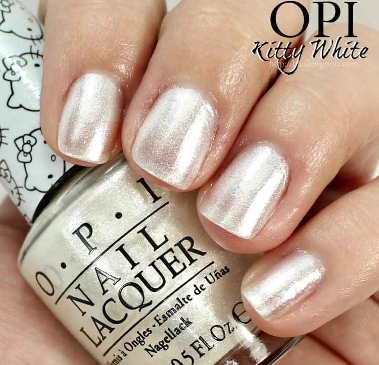 OPI Kitty White Nail Polish Swatches