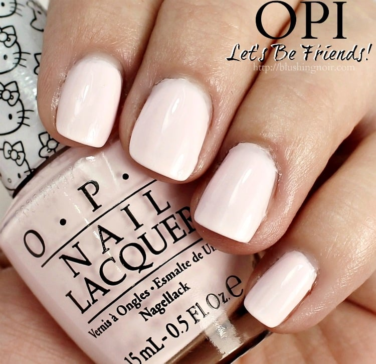 OPI Let's Be Friends Nail Polish Swatches Hello Kitty