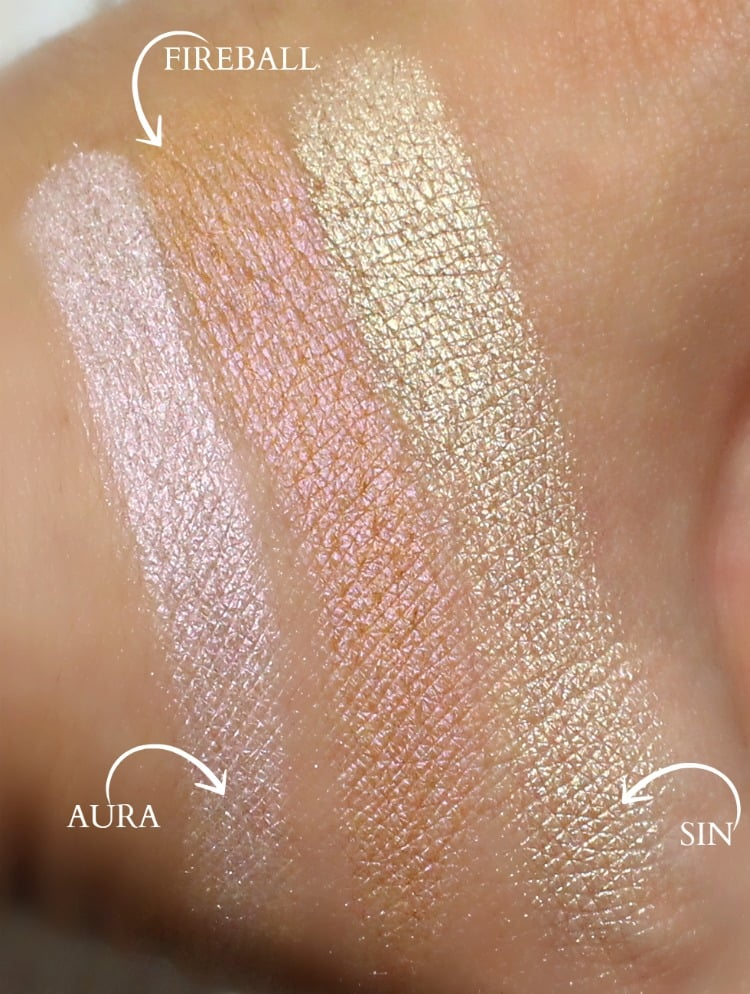Urban Decay Afterglow Powder Highlighter swatches
