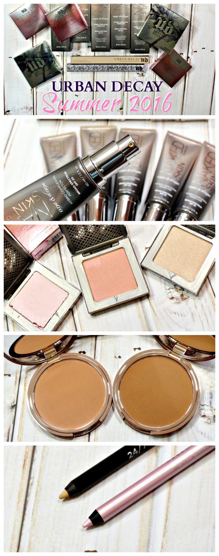 Urban Decay Summer 2016 Makeup Collection swatches review photos pics pinterest
