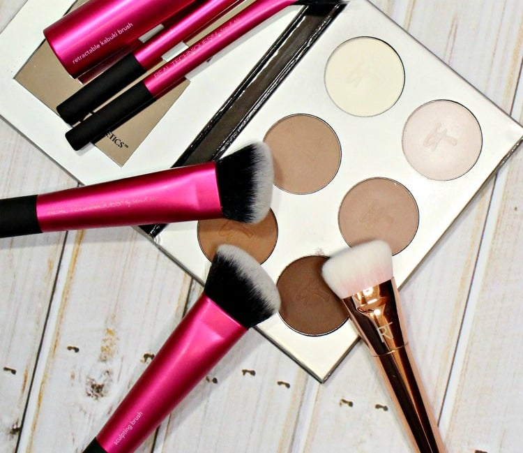 how to contour makeup brushes tools tutorial