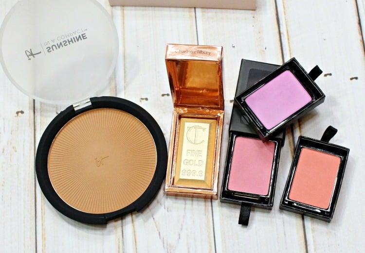 low maintenance high maintenace cheek products bronzer highlighter blush charlotte tilbury gold bar swatches