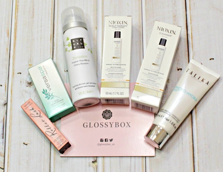 Glossybox May 2016 photos swatches review