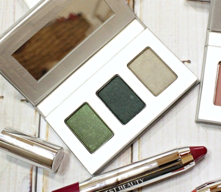 Honest Beauty Forest Green Eyeshadow Trio swatches review
