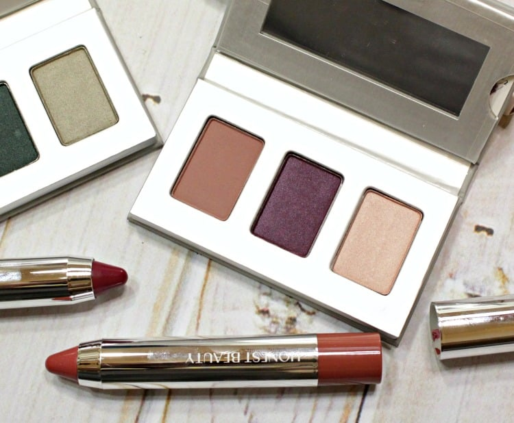 Honest Beauty Heather Mauve Eyeshadow trio swatches review