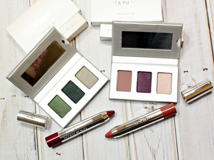 Introduction to HONEST BEAUTY // Eyeshadow Trio & Truly Kissable Lip Crayon Swatches + Review