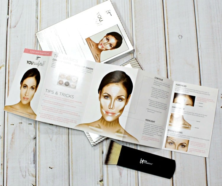 IT Cosmetics Contouring Highlighting how-to tutorial guide book
