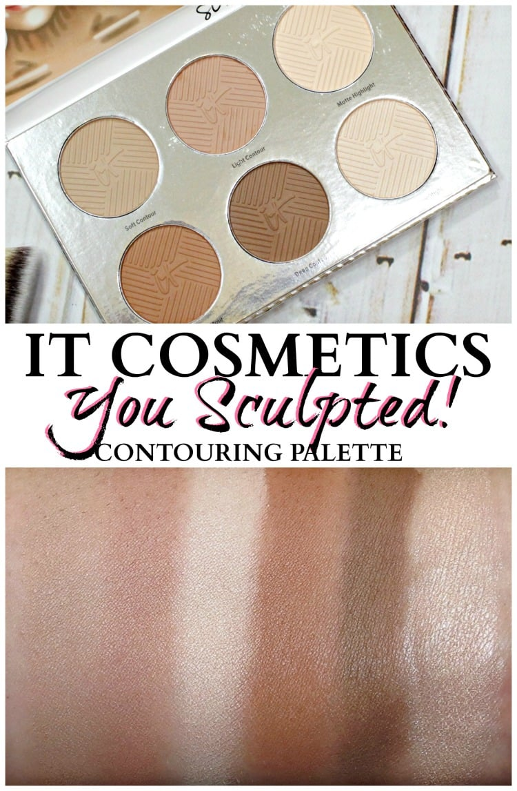 IT Cosmetics You Sculpted Face Body Contour palette swatches review pinterest