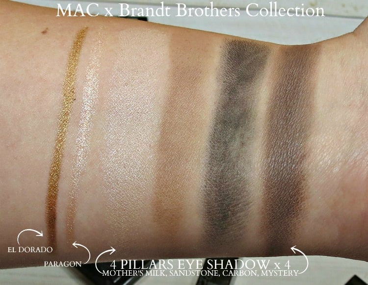 MAC Brandt Brothers makeup collection swatches pics review photos