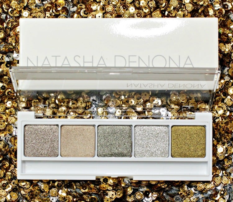 Natasha Denona Eyeshadow Palette 09 swatches review olive green shadow pics